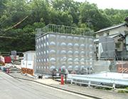水島ニュータウン受水槽・<br>ポンプ室築造工事の内<br>受水槽設置工事